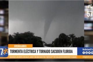 Tormenta eléctrica y tornado sacuden florida