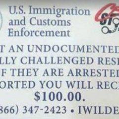 Sheriff desmiente volante que ofrece recompensa por denunciar ilegales.