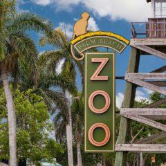 Exploradores tempranos en el zoológico en Palm Beach