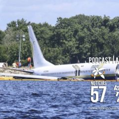 Boeing 737 se deslizó en el río St. Johns