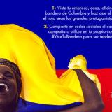 #ViveTuBandera para celebrar la Independencia de Colombia este 20 de Julio