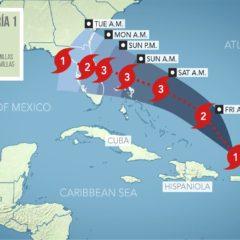 Huracán Dorian Categoría 1 podría aumentar en los próximos 2 días