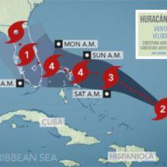 Huracán Dorian en categoría 2 con vientos de 105 mph y aumentando