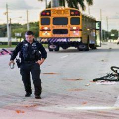 Hombre en bicicleta atropellado por autobús escolar del condado Palm Beach