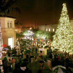 Hoy en Palm Beach desfile de navidad con iluminación del árbol de 40 pies